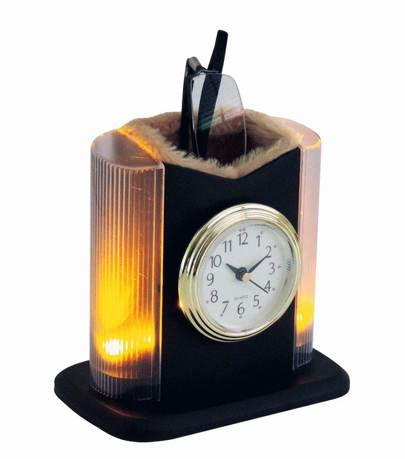 Reloj portagafas luminoso