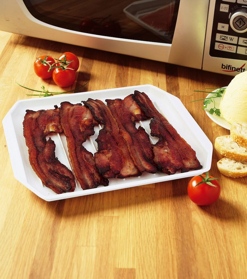 Bandeja bacon microondas