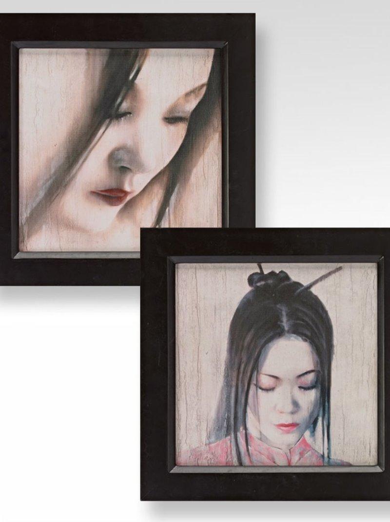 Set 2 cuadros geisha