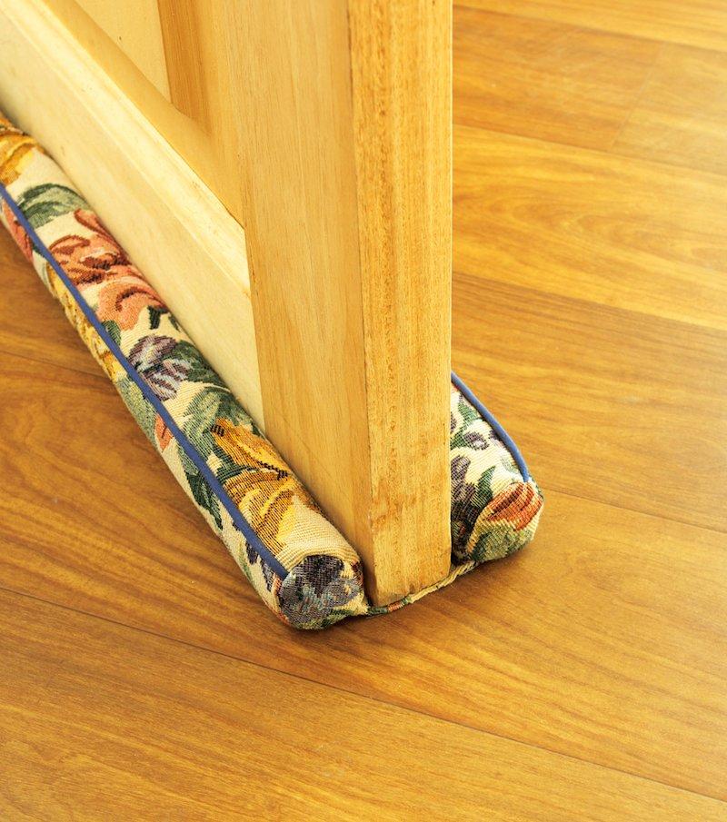 Doble junta protectora de puertas tapizada