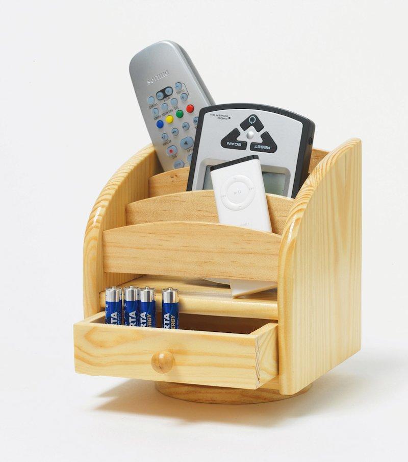 Organizador de mandos madera