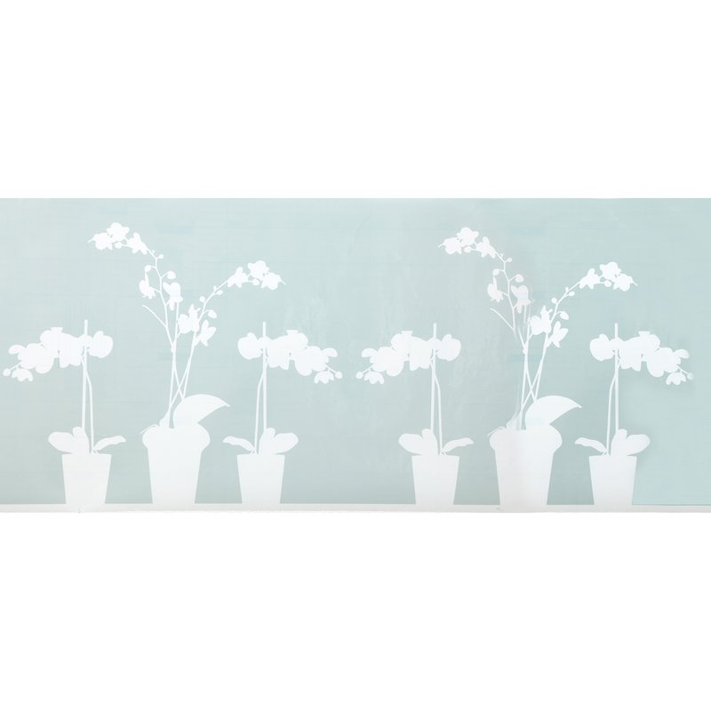 Vinilo decorativo para ventana diseño flores recortable