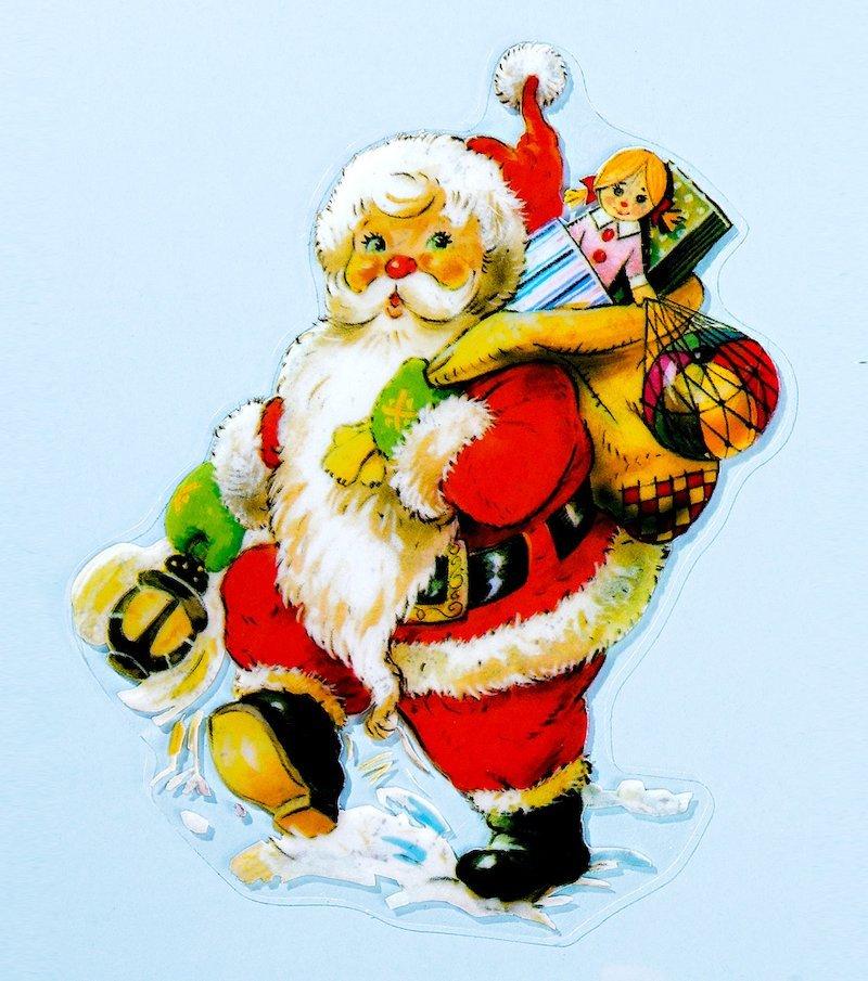 Electrostático ventana Papá Noel