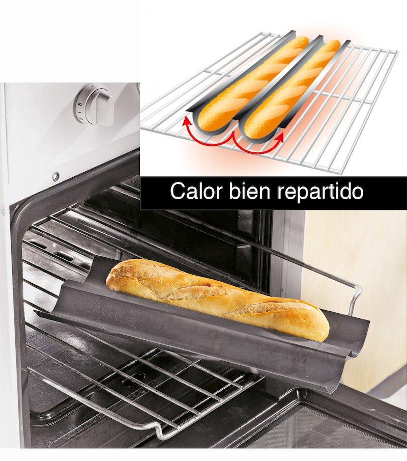 Placa de cocción especial pan de baguette