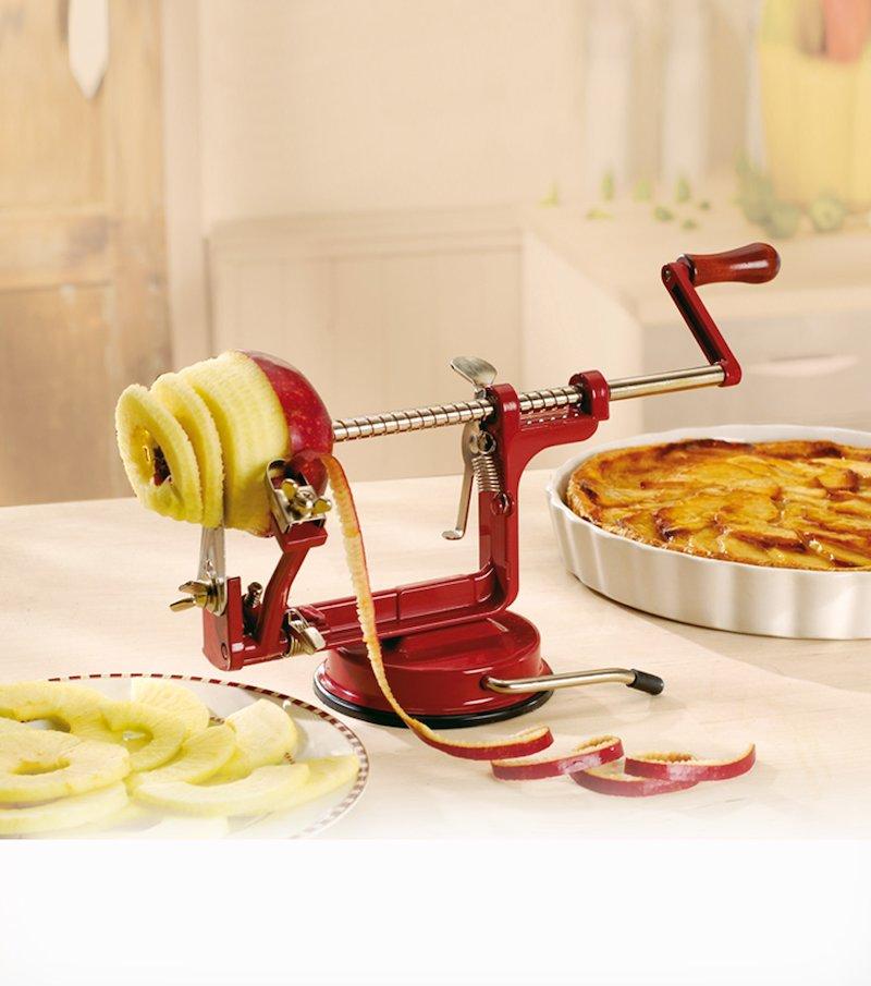 Pelador de manzanas manual