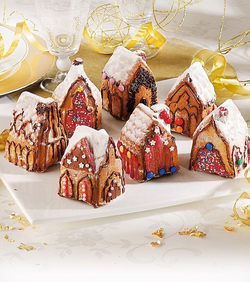 Molde de silicona pastelero pueblo navideño