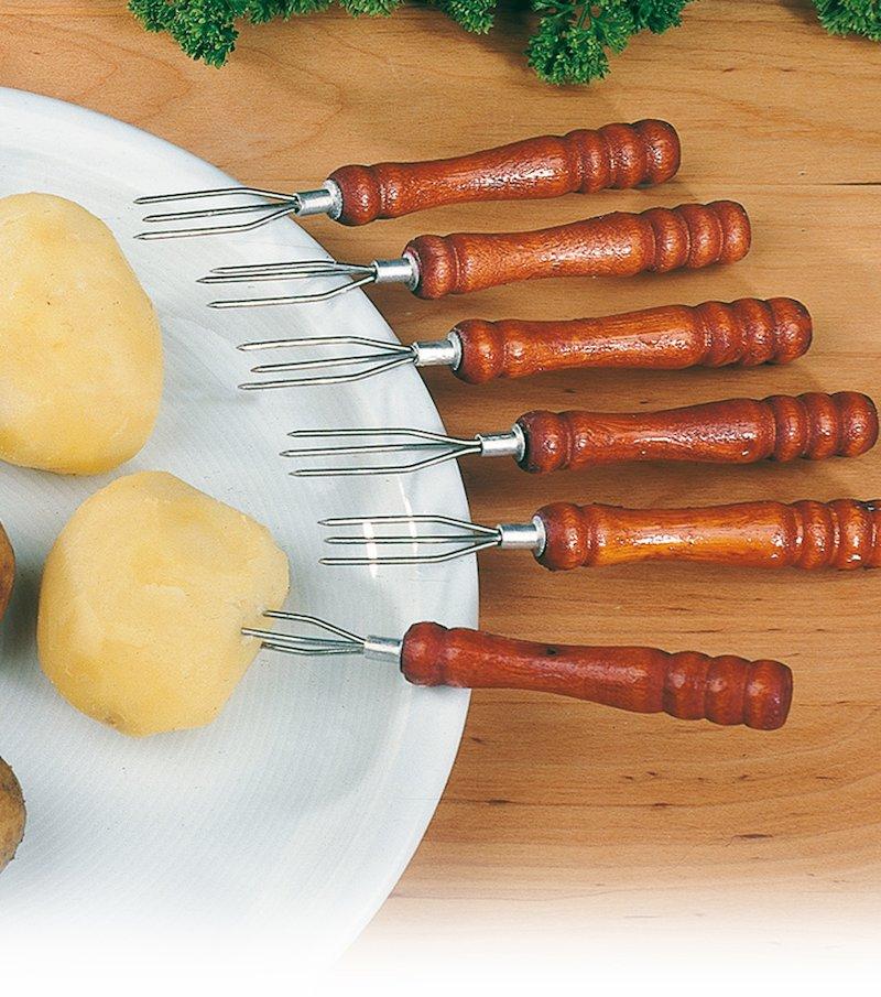 Lote de 6 tenedores especial patatas asadas