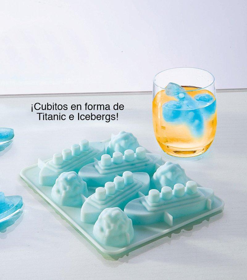 Molde cubitos de hielo barco
