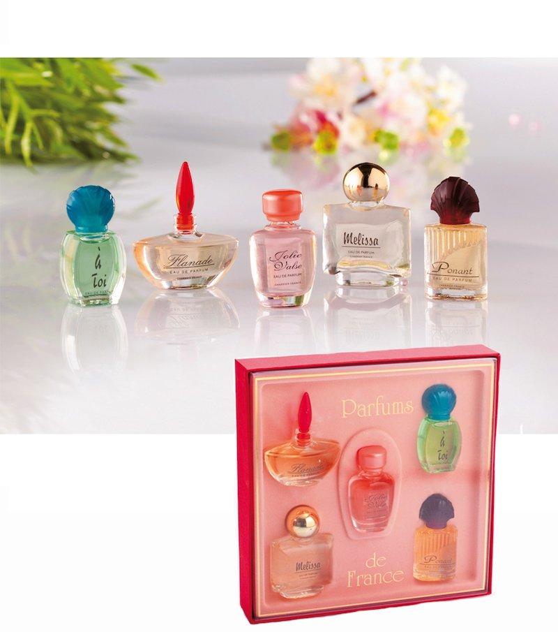 Set 5 miniaturas de perfume