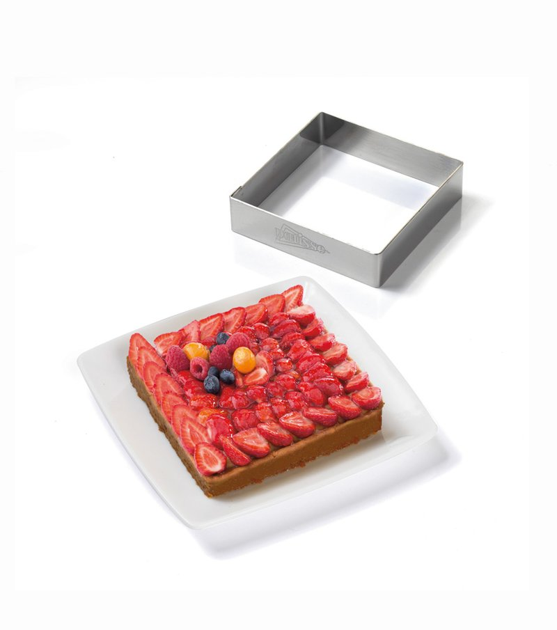 Lote 4 moldes cuadrados inox