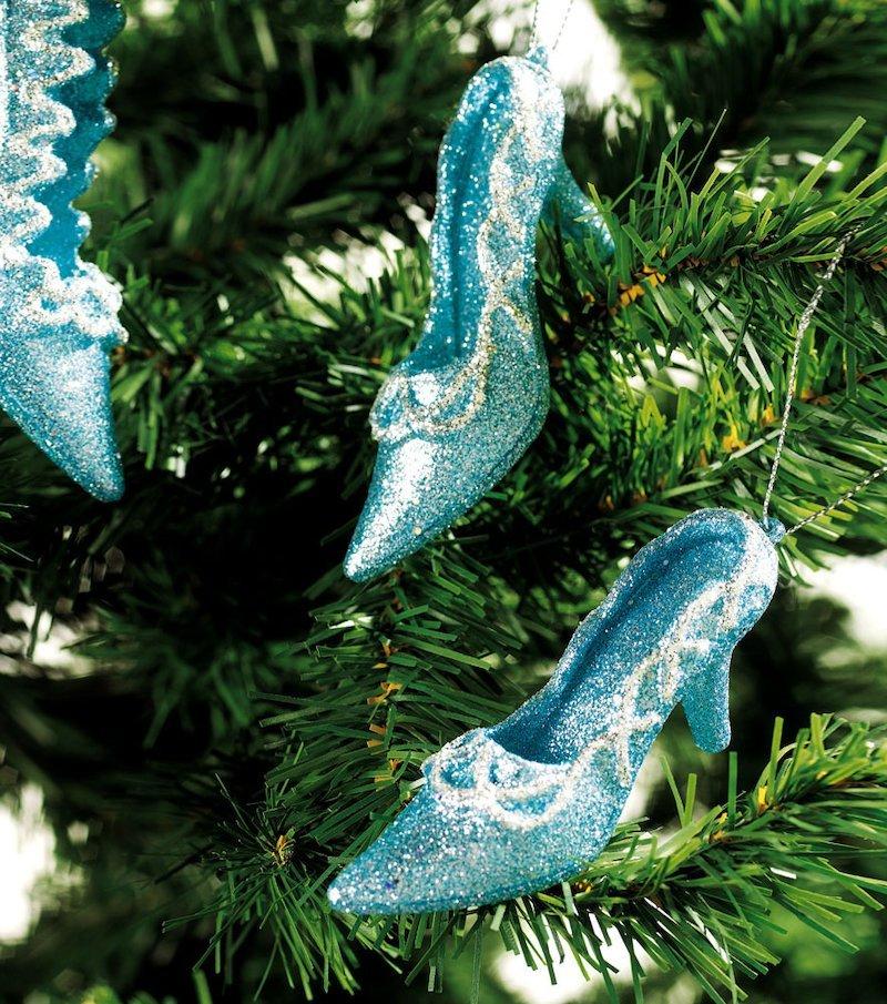 Zapatos purpurina para Arbol de Navidad