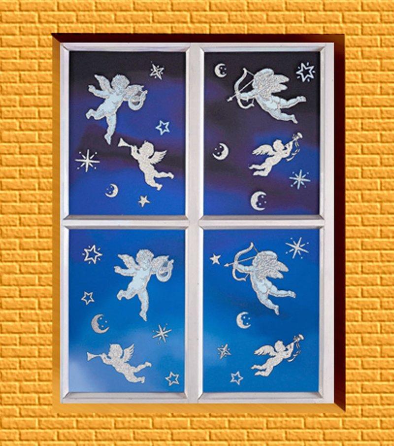 Adornos navideños para ventana Modelo Angel