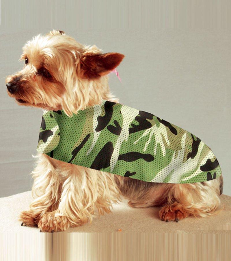 Camiseta camuflaje para perros