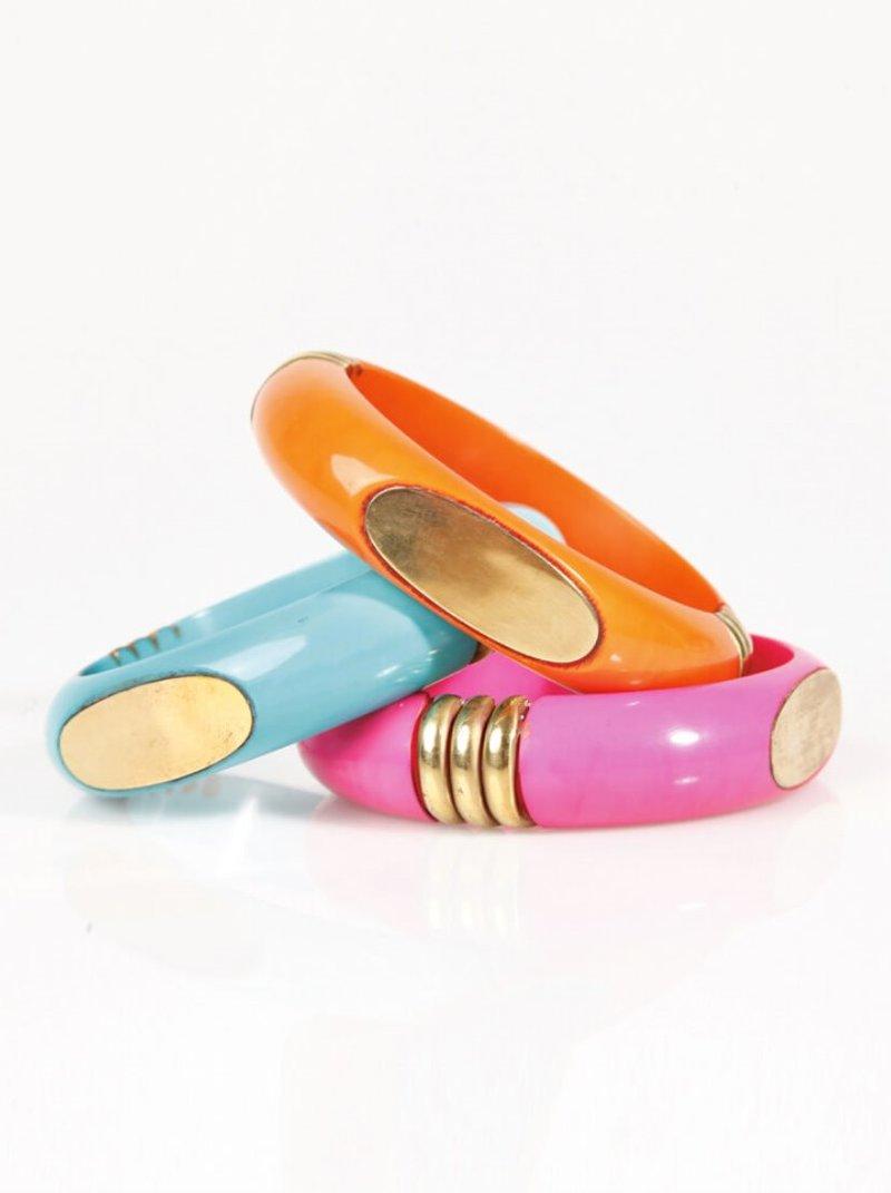 Set 3 pulseras mujer con detalles dorados