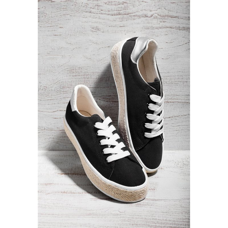 Zapatillas deportivas sneakers acabado esparto