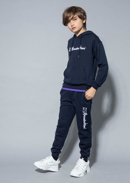 COTTON SWEATPANTS WITH EMBROIDERED LOGO