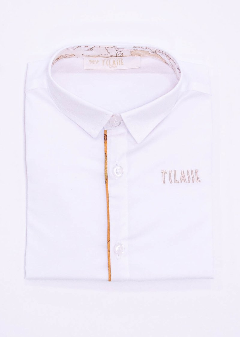 COTTON SHIRT WITH EMBROIDERED LOGO