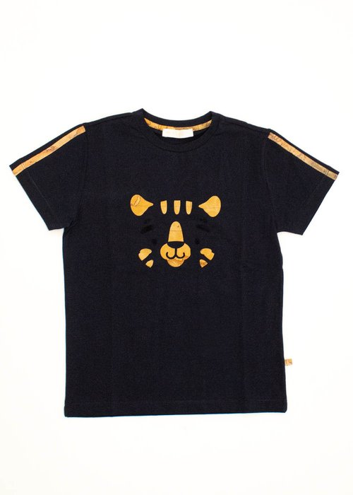 COTTON T-SHIRT WITH BABY TIGER AND GEO CLASSIC PRINT