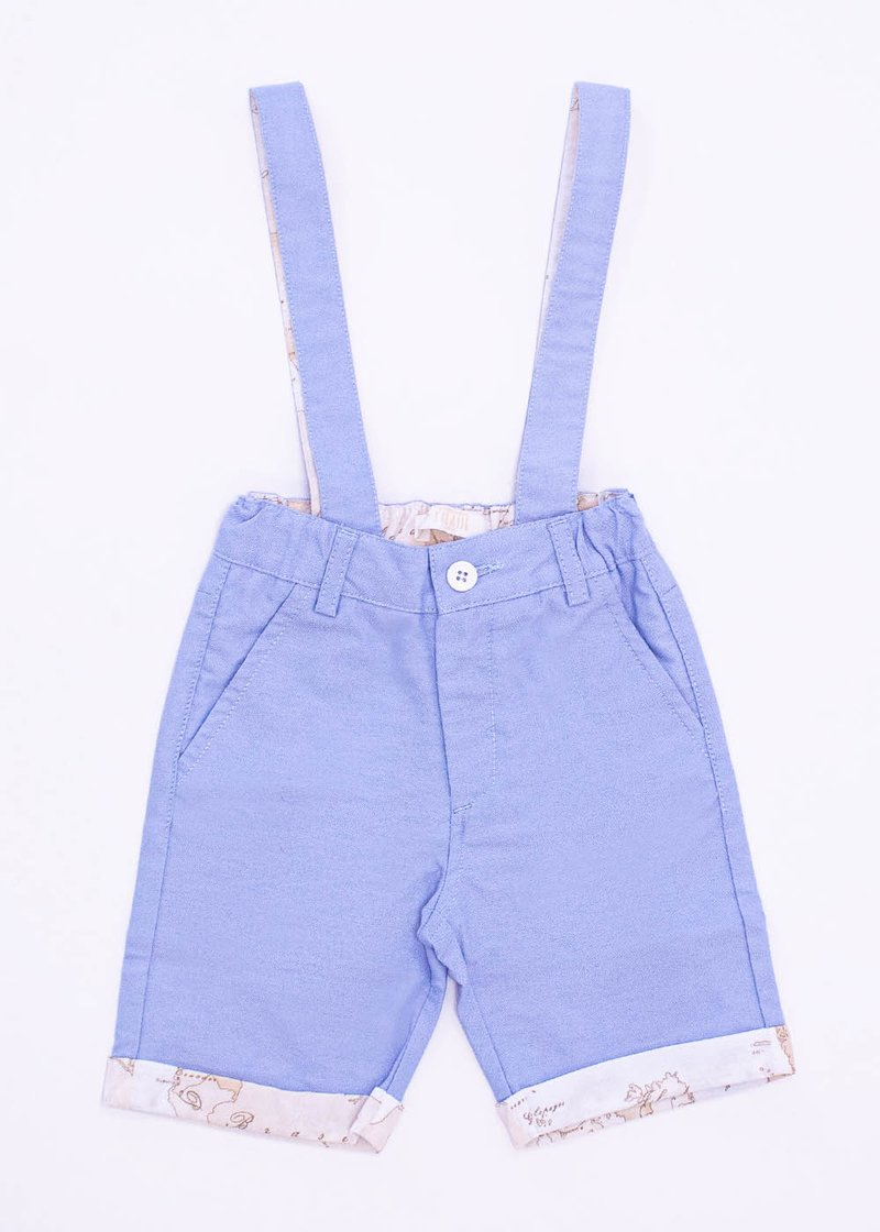 COTTON BERMUDA SHORTS WITH REMOVABLE SUSPENDERS