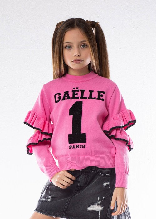 SWEATER WITH EMBROIDERED LOGO AND TEARS