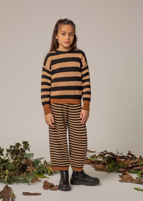 WOOL TROUSERS WITH STRIPED PATTERN