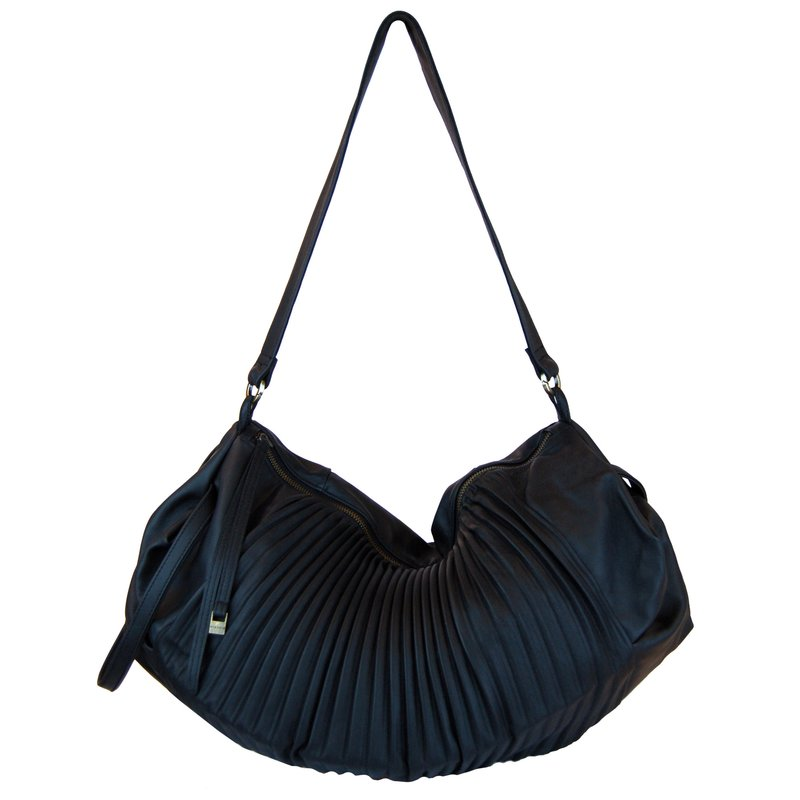 Benni pleated leather