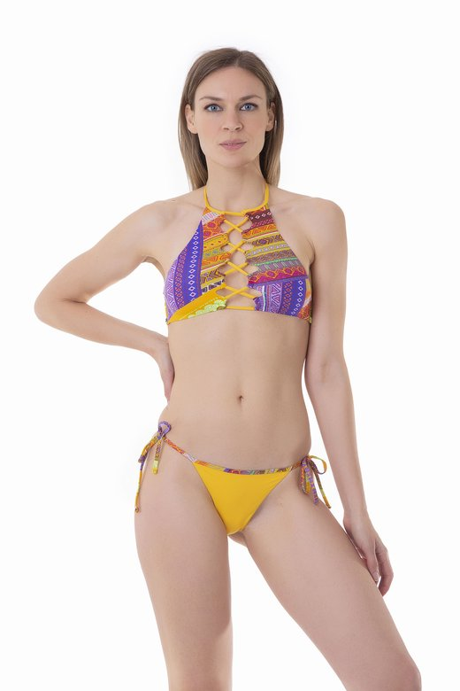 TRIANGLE BIKINI NECK CROSS BINDELLI