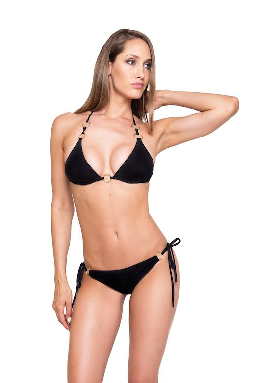 TRIANGLE BIKINI RING SLIP VICHY
