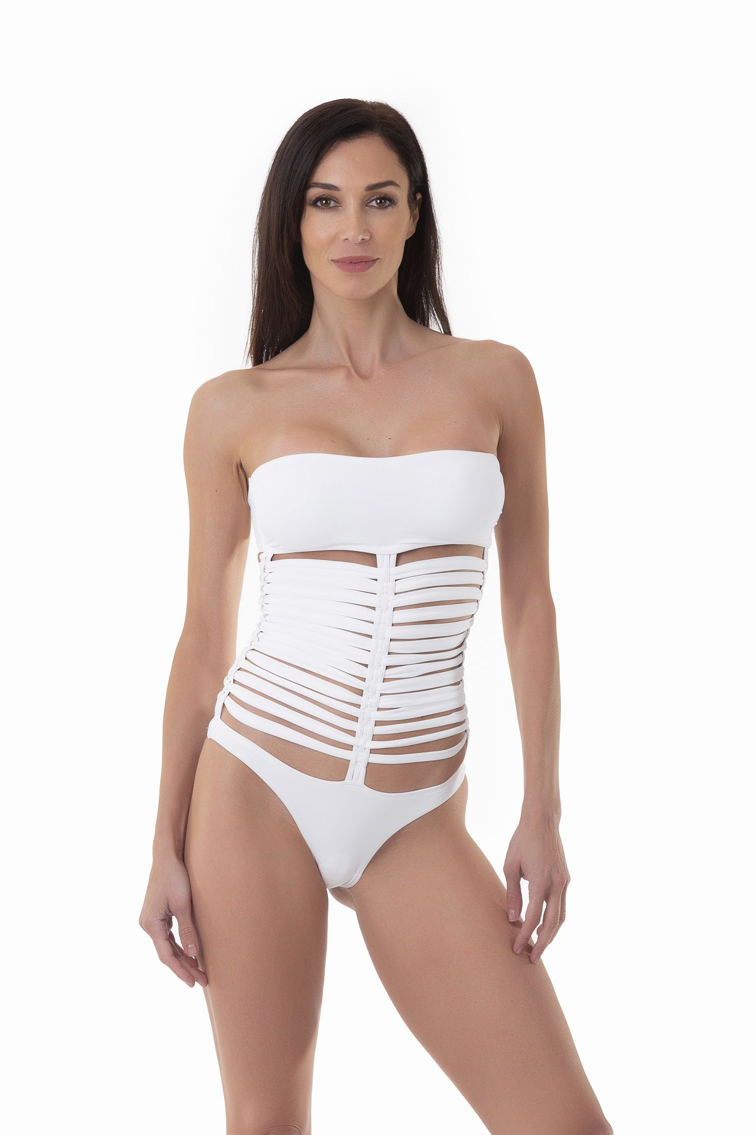 ONE PIECE CAGE - White