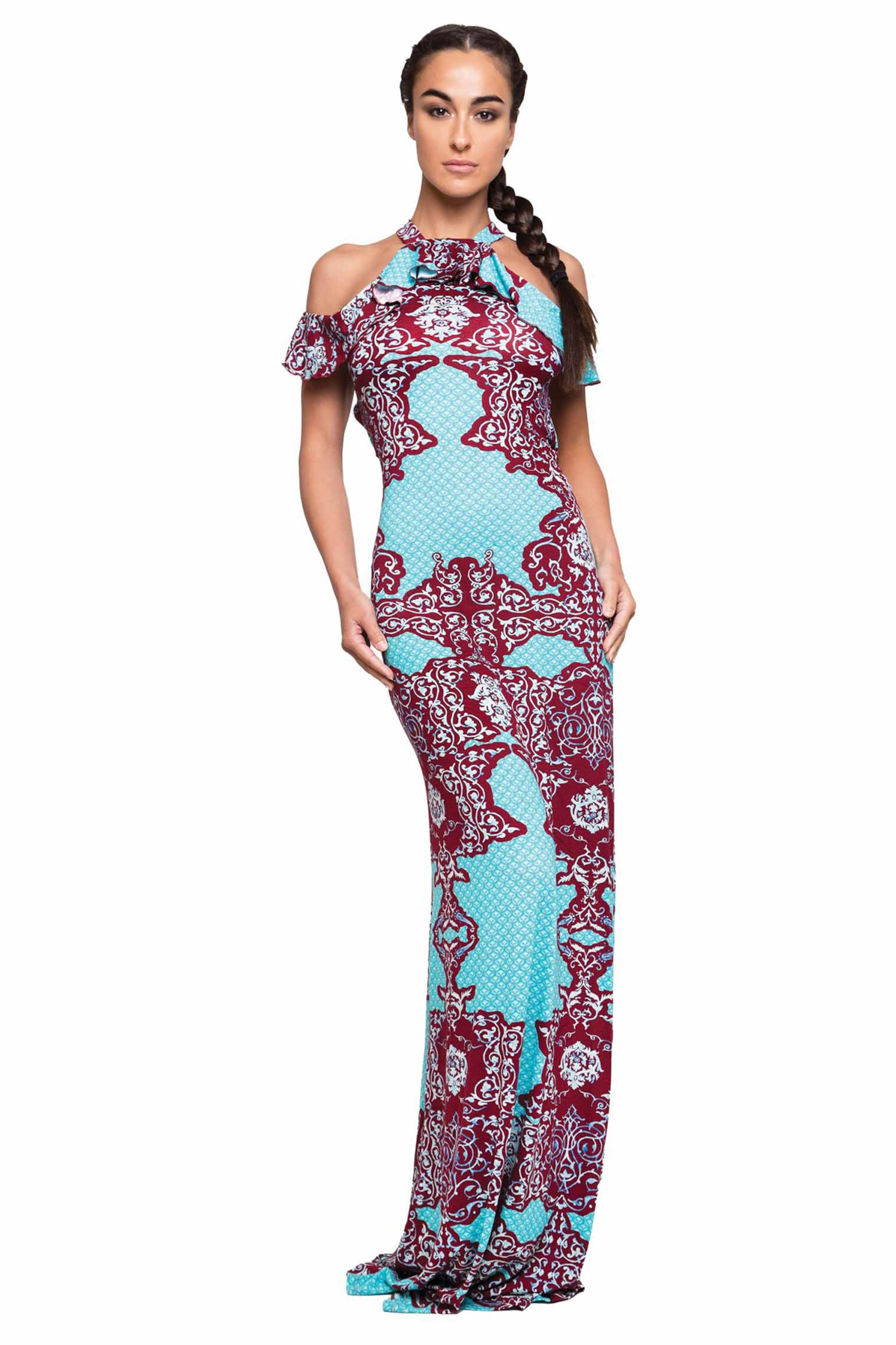LONG TOP DRESS AND VOLANT