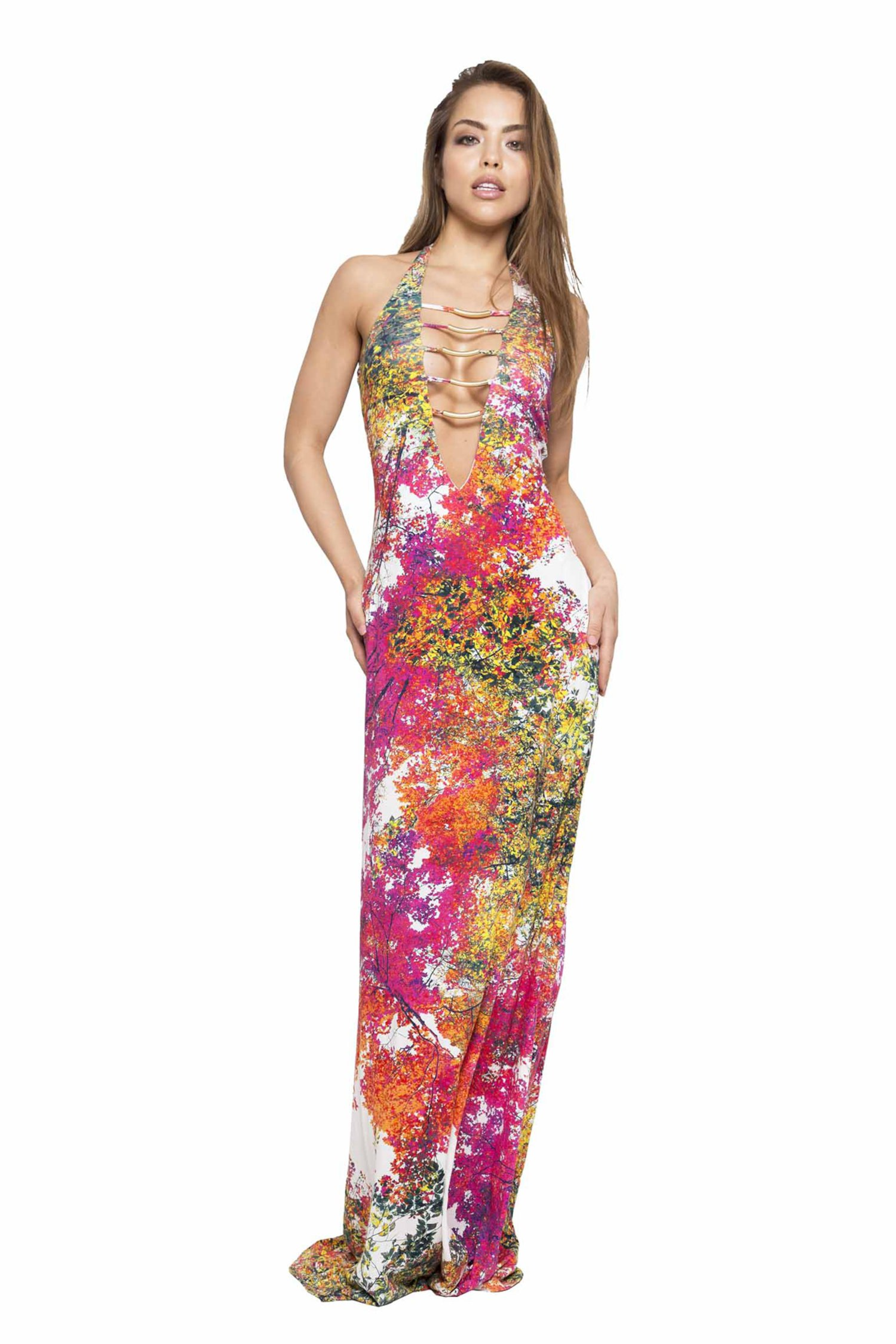 LONG DRESS WITH ACCESSORIES - Albero Bianco