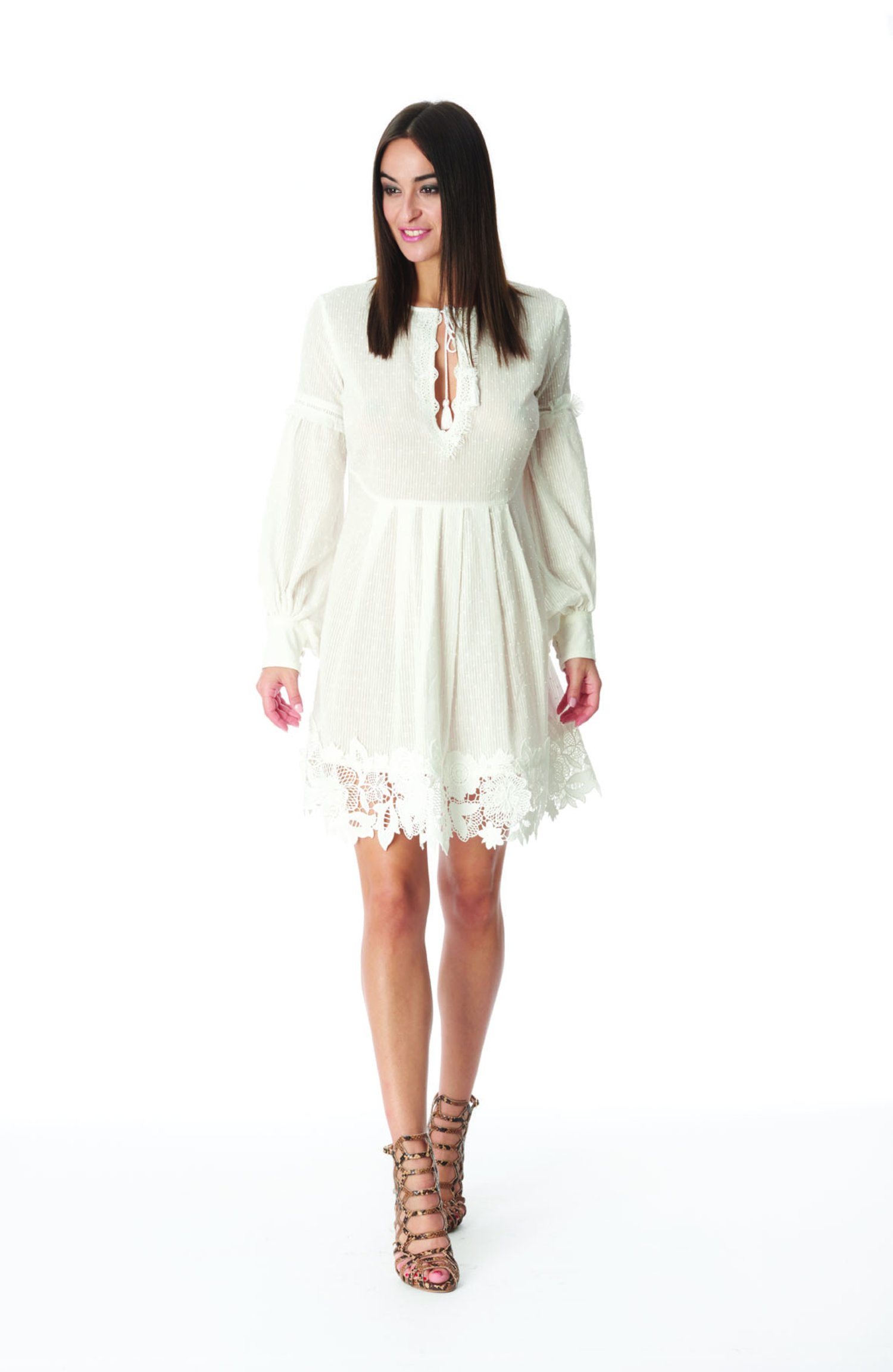 SHORT KAFTAN  LARGE SLEEVE - White