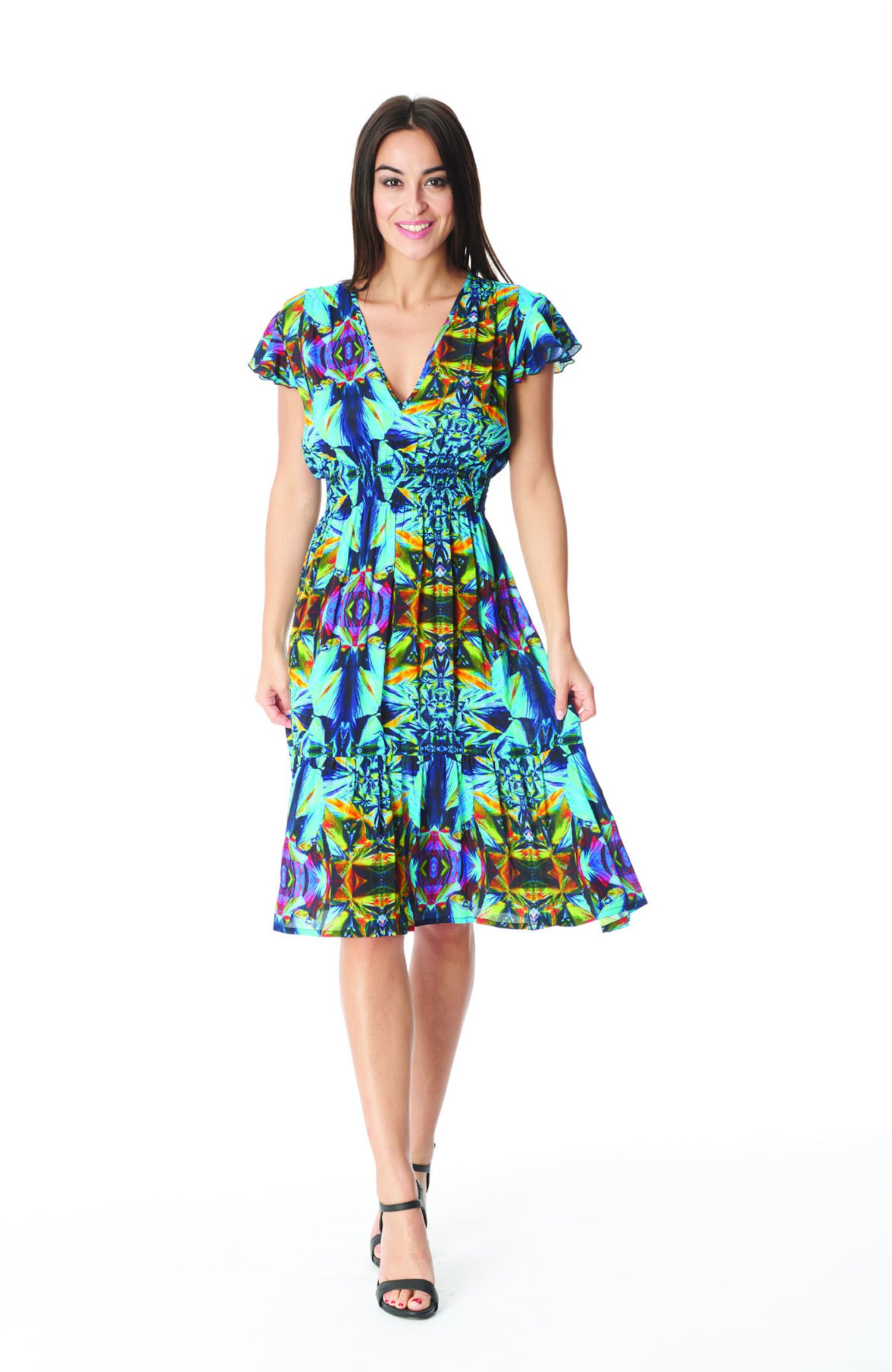 LONGUETTE DRESS - Blue Kaleidoscope