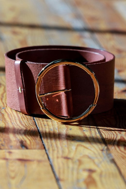 LEATHER BUCKLE BELT - Leather