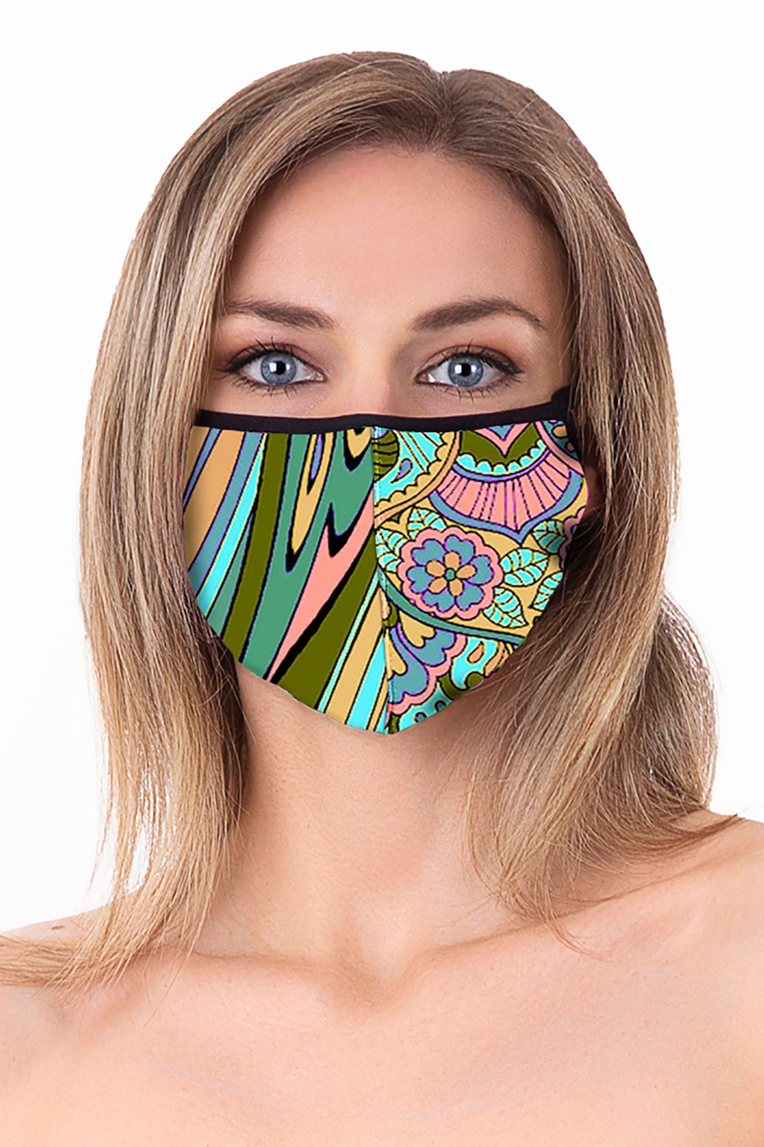 Cloth face mask - Mandala Azzurro