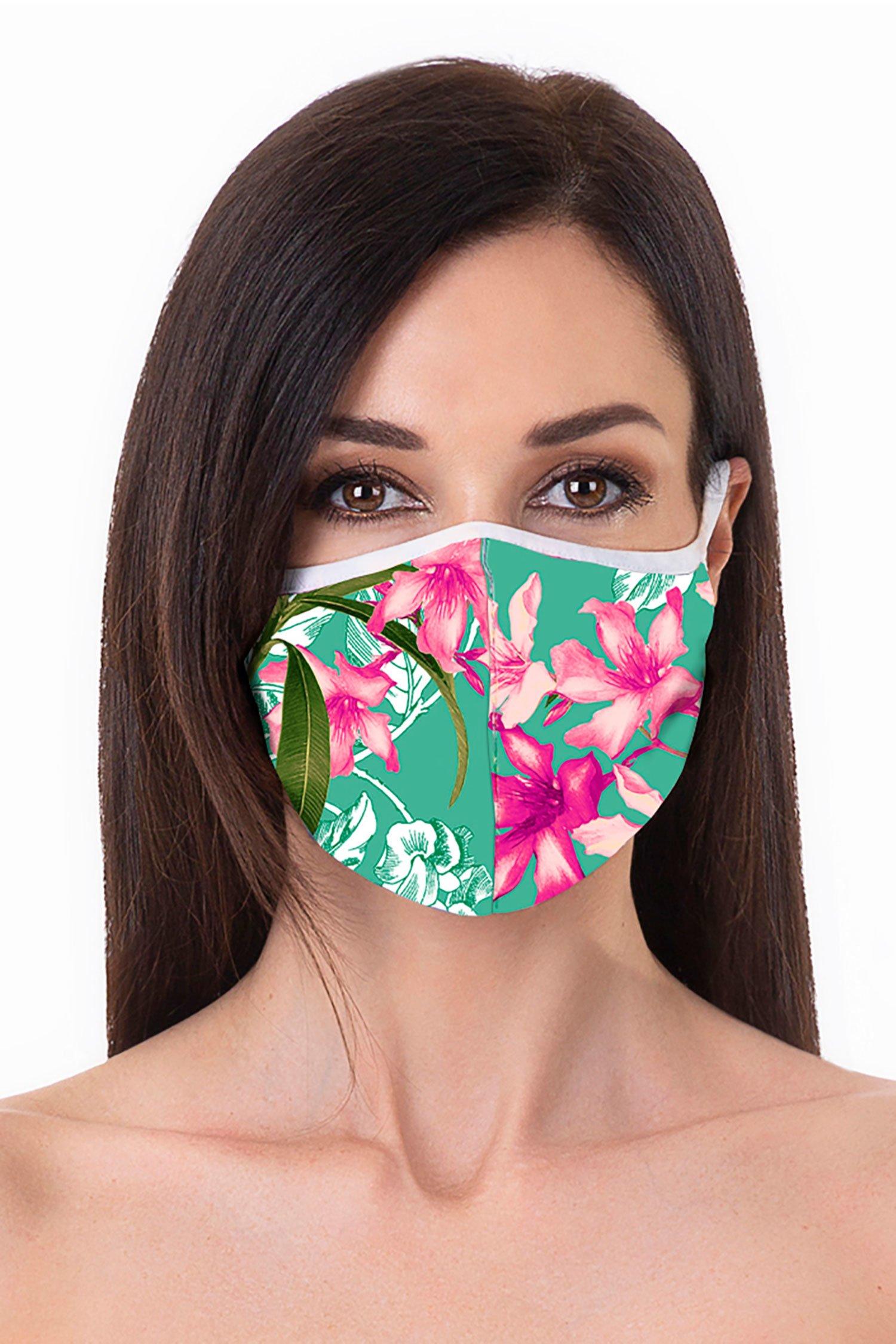 Cloth face mask - Fiori Azzurro