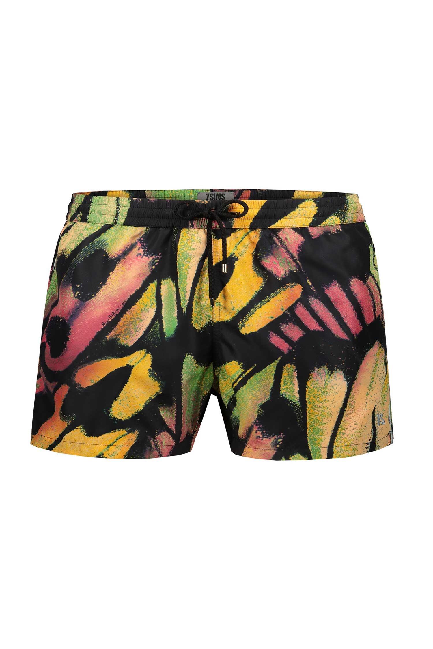 Beach Boxer Men - Farfalle Arancio
