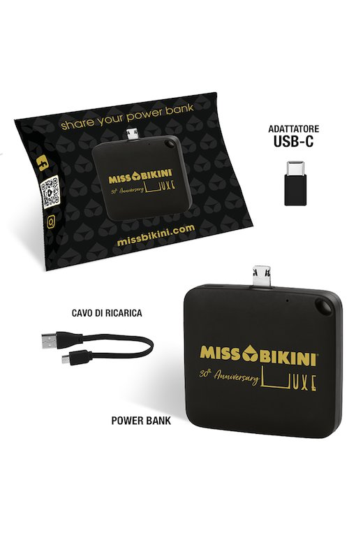 Mini Power Bank Nero Miss Bikini Luxe