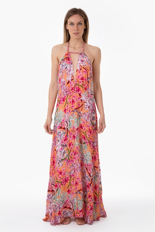 LUXE PRINTED LONG DRESS