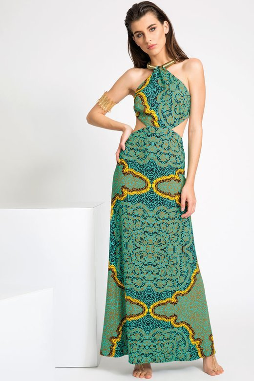 LONG DRESS IN JERSEY WITH  NECKLACE