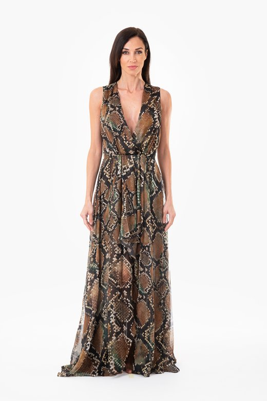 ASYMMETRIC SILK EVENING DRESS