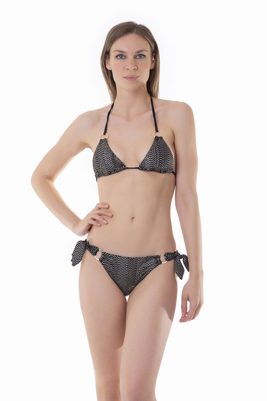 TRIANGLE BIKINI IN OPERATED MICROFIBER