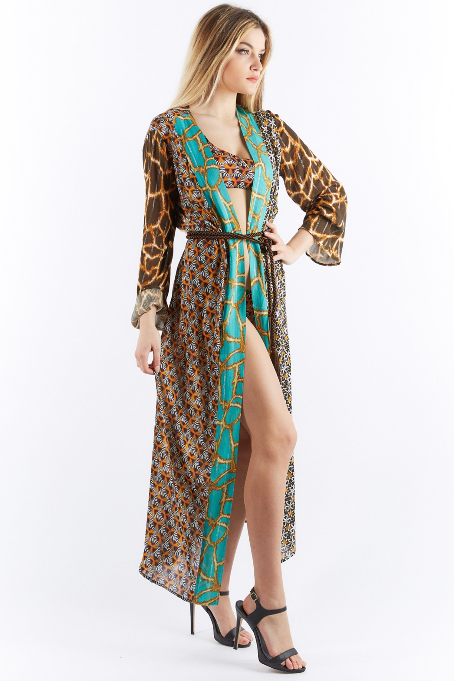 LONG PATCHWORK DRESSING GOWN - Tribale+Scudi