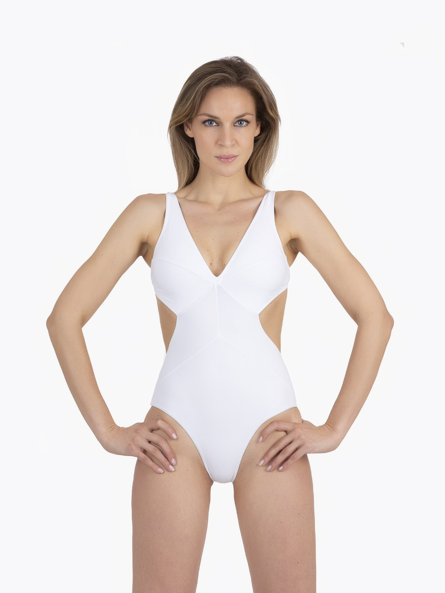 ONE PIECE SWIMSUIT BUTTERFLY MODEL - Bianco White 001