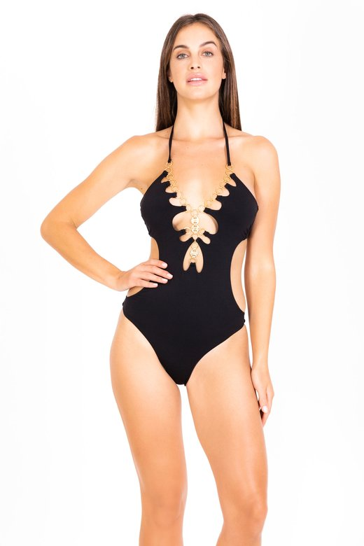 ONE PIECE SWIMSUIT WITH MEDALS AND RINGS