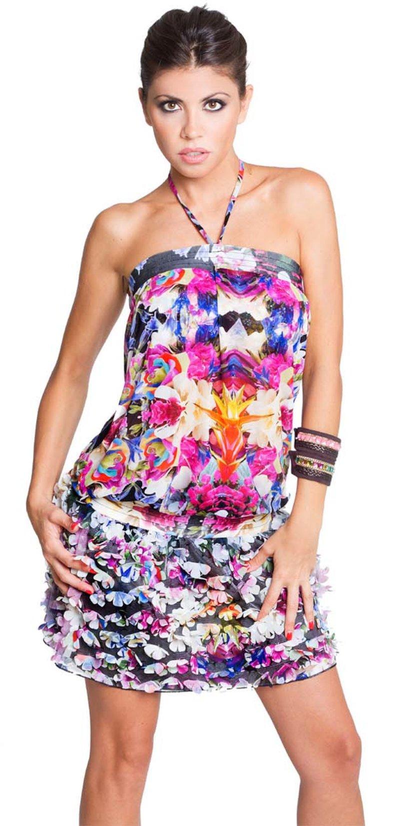 mini dress skirt florets - Frida Nero
