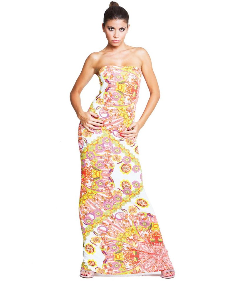 Tube Foulard dress - Foulard Bianco