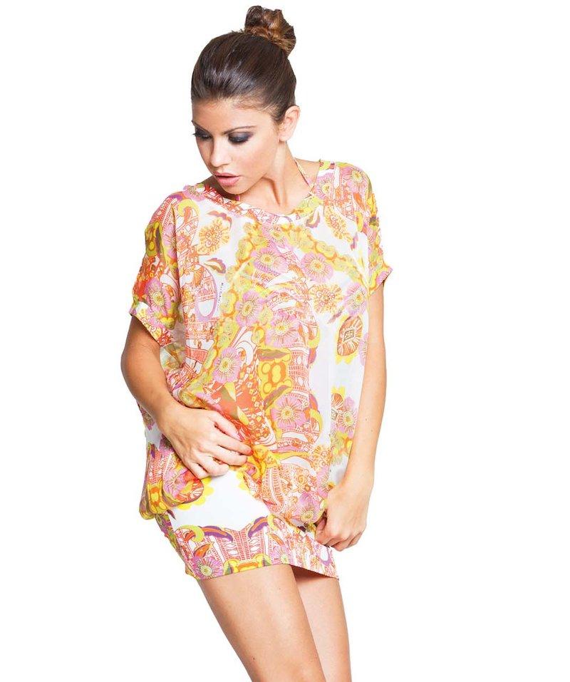 Short Foulard dress - Foulard Bianco