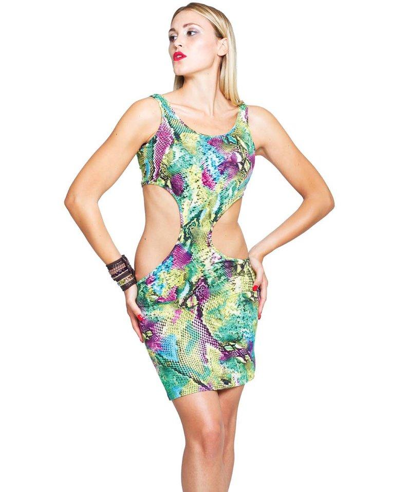 Short Jersey Dress - Pitone Verde