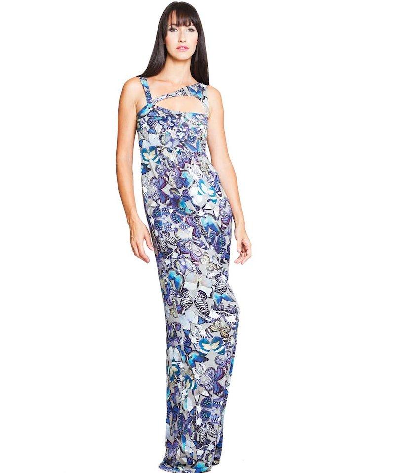 Butterflies embroidered dress - Farfalle Celesti